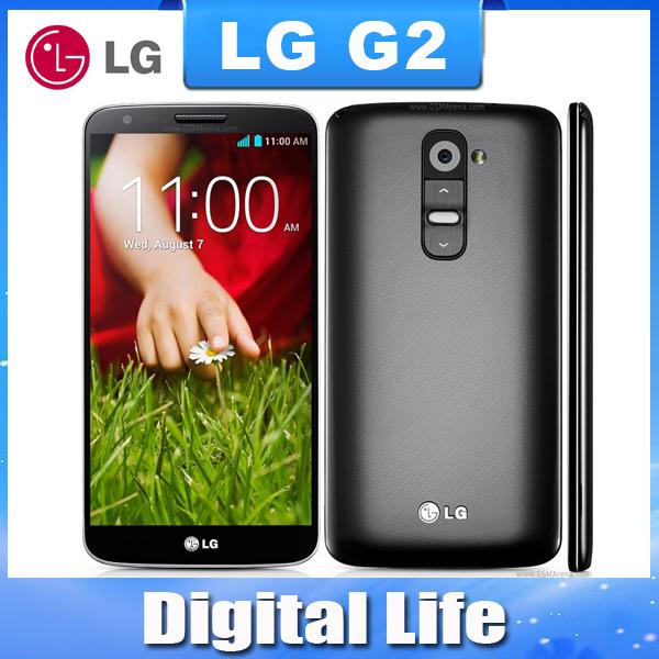 Unlocked Original LG G2 F320 D802 D800 LS980 32GB phone 13MP camera Quad-core 5.2'' screen wife Bluetooth one year warranty(China (Mainland))