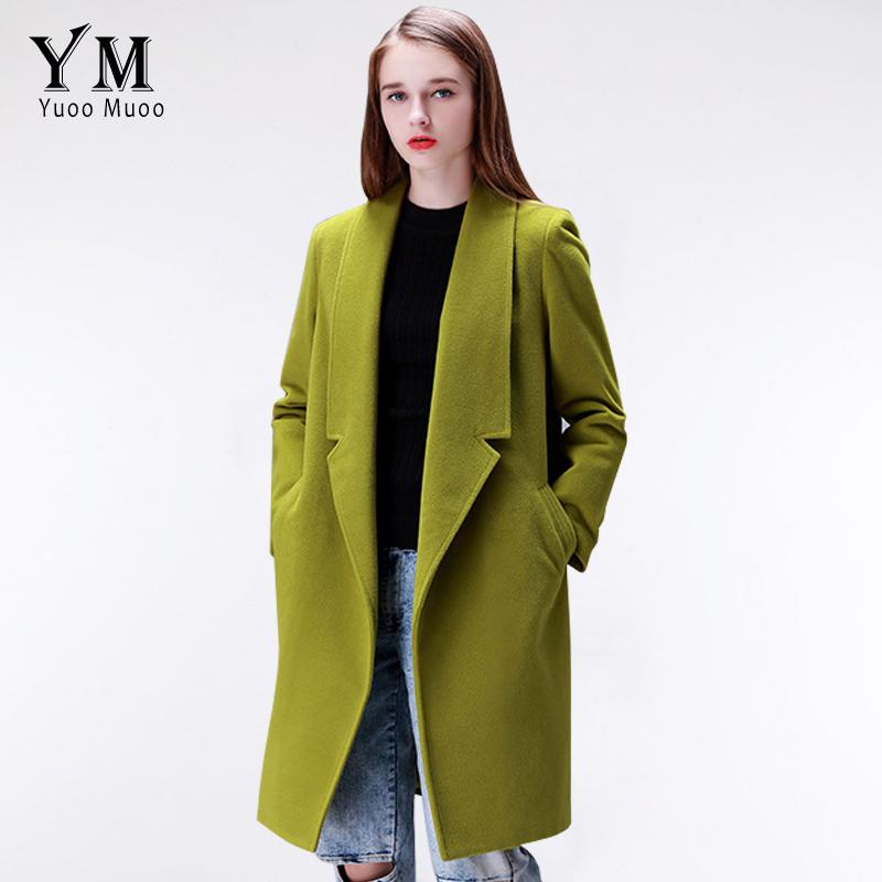 YuooMuoo Brand Design Winter Coat Women Warm Cotton-padded Wool Coat Long Women's Cashmere Coat European Fashion Jacket Outwear(China (Mainland))