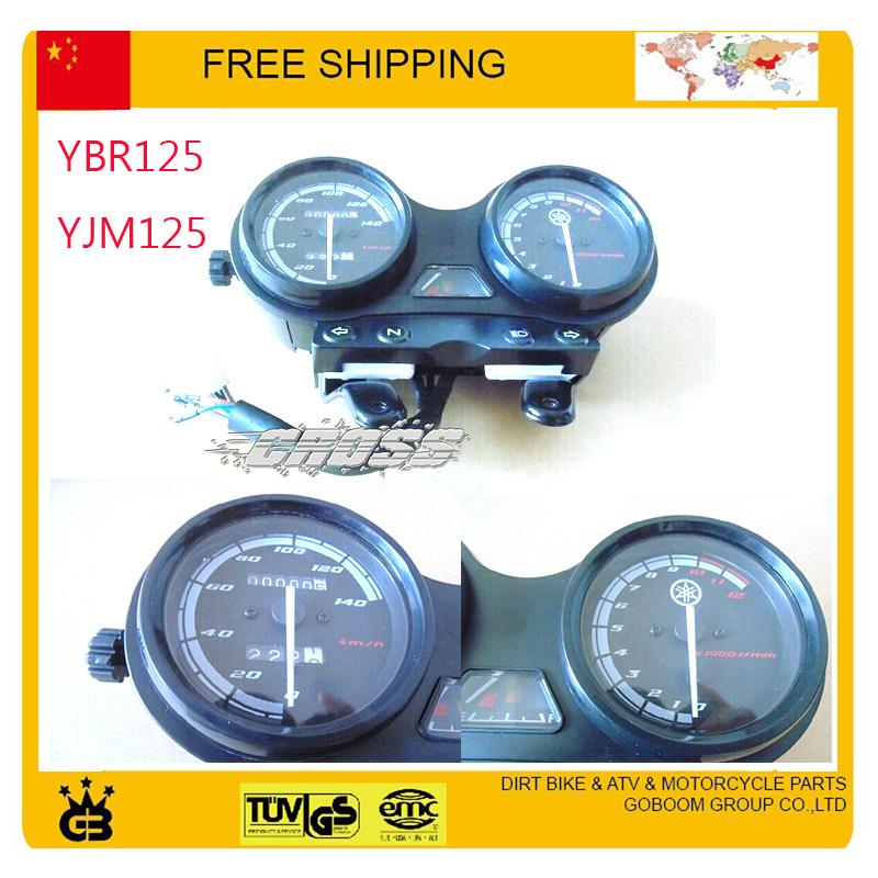 EURO II ED instrument 125cc Motorcycle Speedo Meter Gauge Instrument ybr YBR125 YJM125 Hornet odometer speedometer free shipping