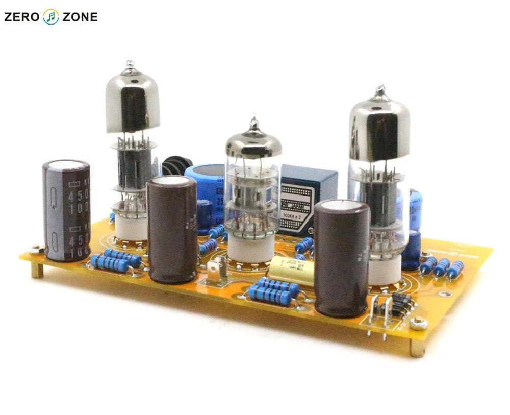 GZLOZONE TU-2 Modified WCF 6N2+6N6 Tube Headphone Amplifier Board + ALPS Potentiometer