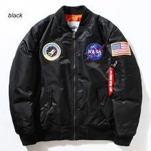 Flight Pilot Jacket Coat Bomber Ma1 Men Bomber Jackets Nasa Air Force Embroidery Baseball Military Coats M-XXL CD0002 CD0001(China (Mainland))
