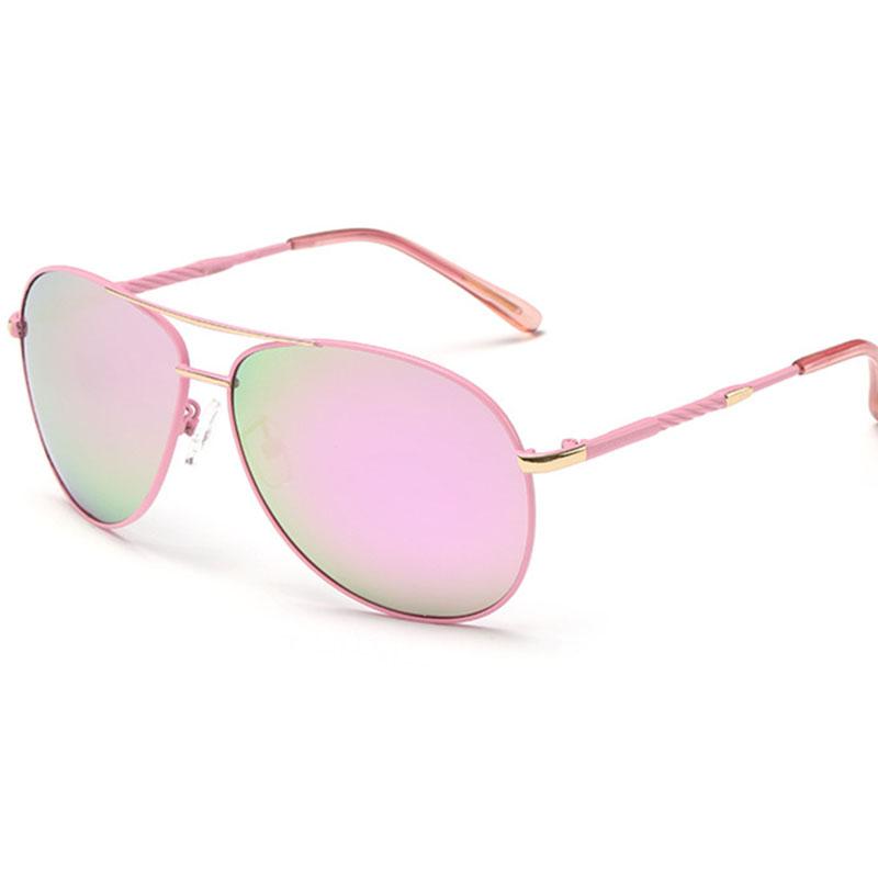 2016 New Womens Pilot Sunglasses Polarized Popular Novelty Sun Glasses for Ladies Pink Purple Orange Blue silver 5 Colors 8115(China (Mainland))