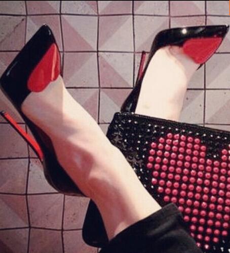 Aliexpress.com : Buy Red Bottom shoes Women red heart cheap Pumps ...