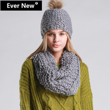 Beautiful Thick Knit Winter Scarf And Hat For Women Scarf Hat Set Winter Hat Scarf For Women Beanies Fashion And Warm Hot Sales(China (Mainland))