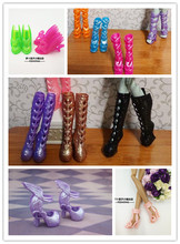 2016 NEW 2 pair Boots + 3 pair Shoes for Monster inc high Doll,Free Shipping Doll shoes for Monster Hight Doll,Accessories DIY(China (Mainland))