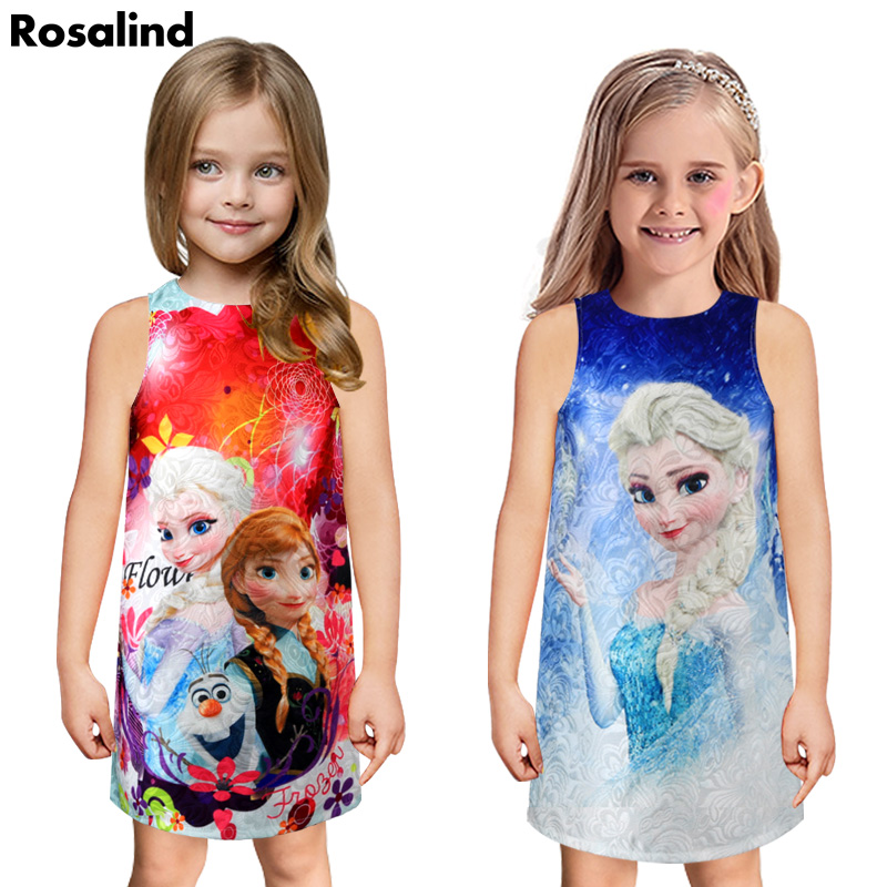 Name brand girl dress snow queen kids elsa dresses high quality girls clothes anna princess dress casual children clothing hot(China (Mainland))
