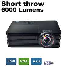 ATCO 6000Lumens Business meeting Education Daylight Video Full HD 1080P Digital 3D DLP Short throw Projector Beamer Proyector(China (Mainland))
