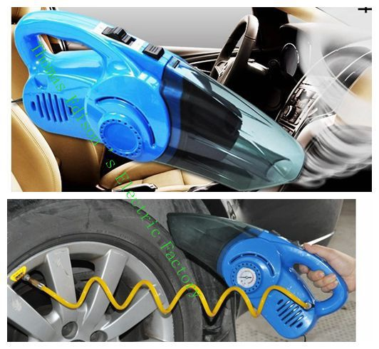car air pump big power cleaner Car vacuum household car vacuum cleaner dry and wet inflatable pump cleaner(China (Mainland))