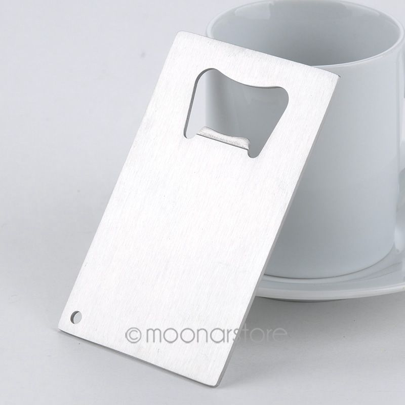 HOT 1 Piece Credit Card Bottle Opener Business Beer Openers Wallet Size Stainless Steel J*50CMHM749#S4 - Sala's Fashion Store store