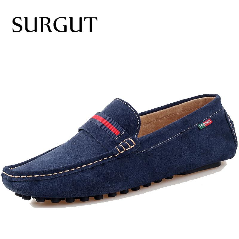 New Fashion Mens Flats Classic Slippers Men Loafers Suede Leather Shoes Brand Dress Casual Style For Summer Shoes Big Size 38-45(China (Mainland))