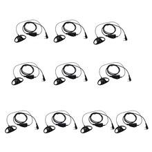 1D Shape 2Pin Soft Ear Hook Headset Microphone Kenwood Retevis H777 Baofeng BF-888s UV-5R Walkie Talkie C9031A - RETEVIS offical Store store