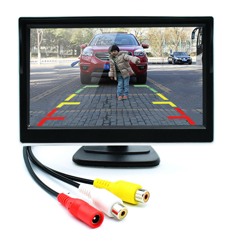 5 Inch Car Monitor TFT LCD Screen Digital Color Rear View Monitor Support VCD DVD GPS Camera with 2 Video Inputs(China (Mainland))