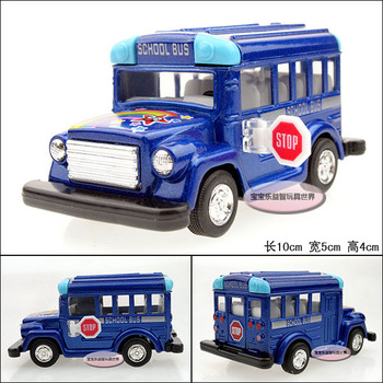 Baby school bus blue baby WARRIOR alloy car model free air mail
