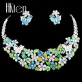 MS1504628 Classic Butterfly Jewelry Sets Bright Colors Woman s Necklace Earring Set High Quality Bridal Jewelry