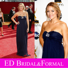 Lauren Conrad Dress Navy Blue Evening Prom Formal Pageant Gown 2008 Primetime Emmy Awards(China (Mainland))