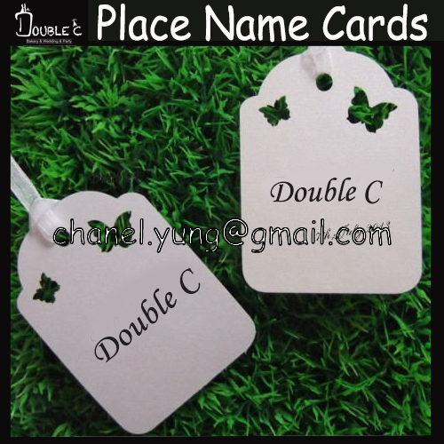 Wedding Wishing Tree Tags-Flowers design place name cards/gift card Tag Wish Card Wedding Favors Party Decoration,100pcs(China (Mainland))