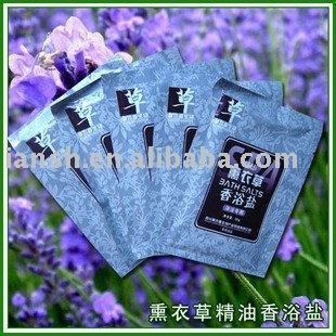 Sal baño de pies, lavanda olor, 150 unids, envío gratis(China (Mainland))
