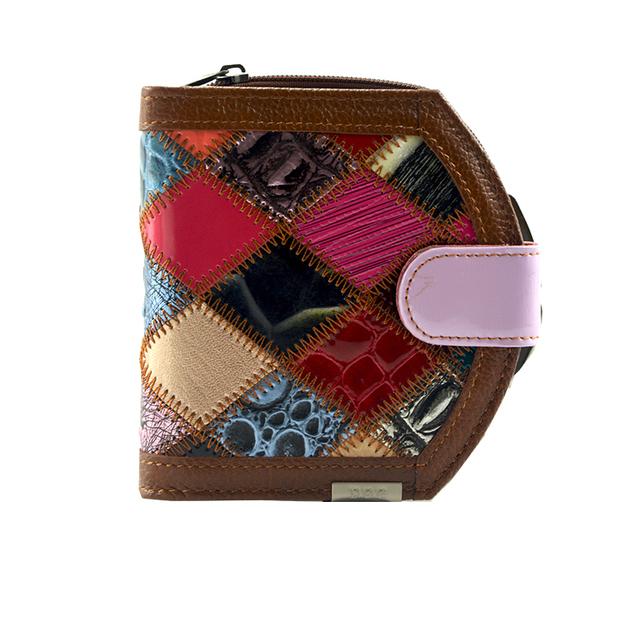 Lovley короткие засов коровьей натуральной кожи женщины монет сумка шить дизайнер ...