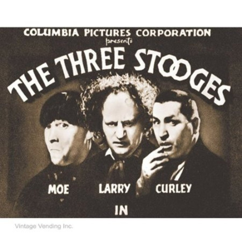 Stooges Columbia Pictures Classic TV Television Comedy Home Decor ...