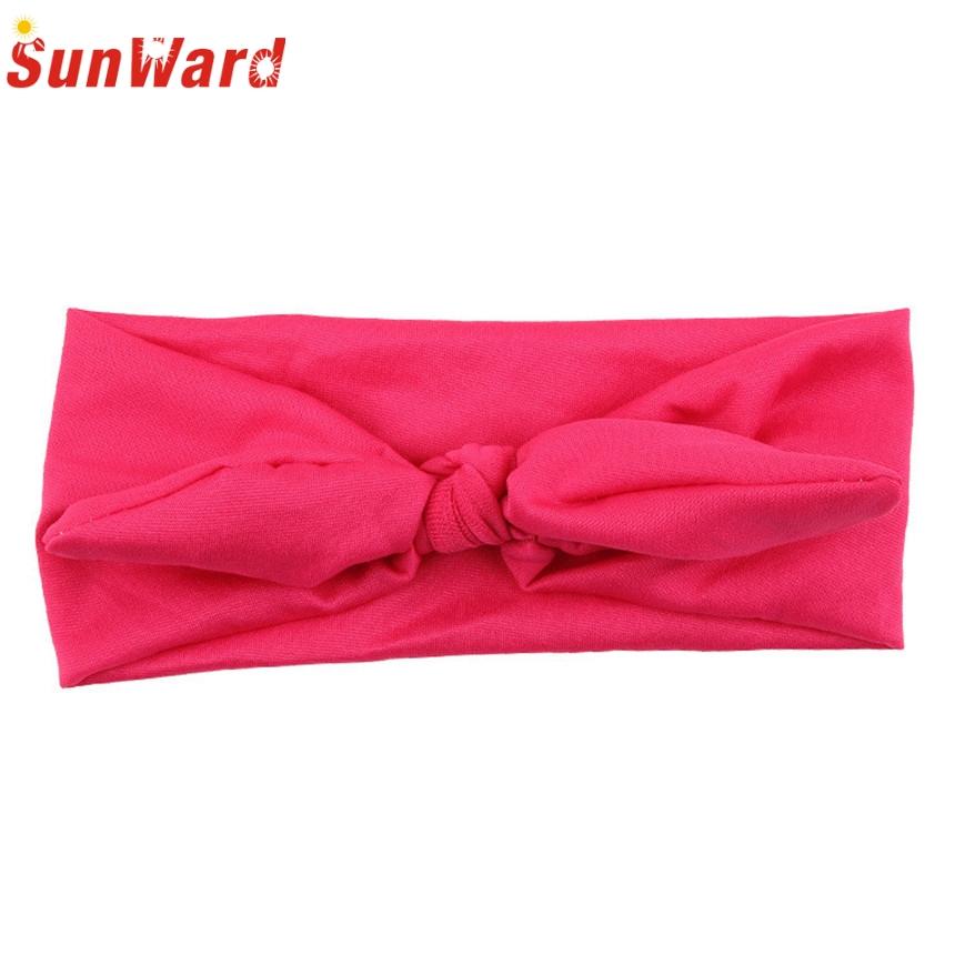 Hair clips for children SunWard 2017 Hotselling Kids cute Rabbit Bow Ear Hairband Headband Turban Knot Head Wraps(China (Mainland))