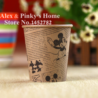 Cartoon Paper Cups 50pcs/Pack Disposable Party Paper Cup Wedding Party Supplies(China (Mainland))
