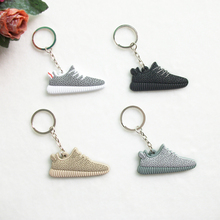 Mini Silicone Yeezy Boost 350 Keychain Bag Charm Woman Men Kids Key Ring Gifts Sneaker Key Holder Jordan Shoes Key Chain(China (Mainland))