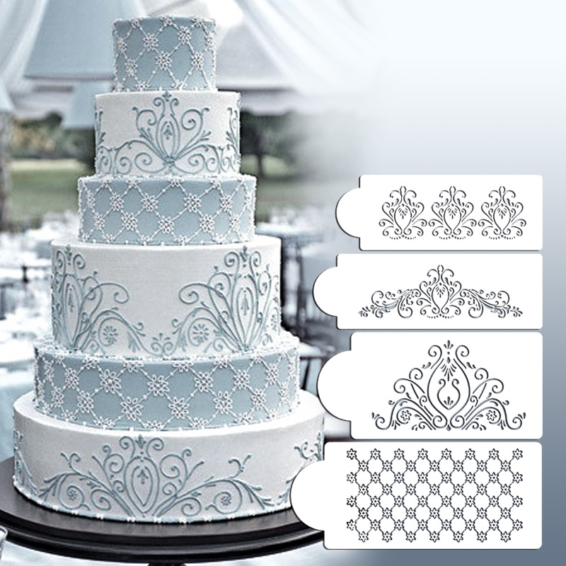 Princess Lace Cake Stencil Set Cake Craft Stencils Cake