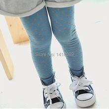 Fashion Toddler Baby Gilrs Polka Dot Soft Leggings School Stretch Pant Trousers Size 2 8Y