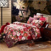 Luxury 3D Duvets Cover Printed Bedding Set bed sheet Pillowcase 4pcs bedspread queen size cotton double bed linen Best Gift(China (Mainland))