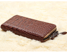 New classics Ladies Purse crocodile texture PU leather zipper wallets more capacity of bank card wallet