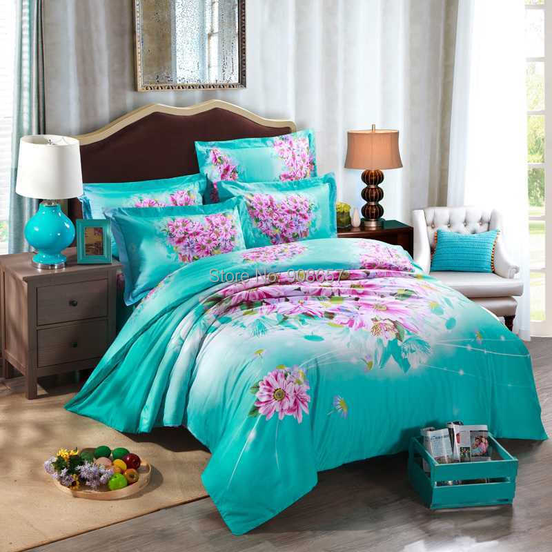 Online Get Cheap Dark Turquoise Bedding Aliexpress Com