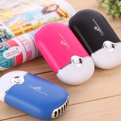 Mini Portable USB Rechargeable Hand Held Air Conditioner Summer Cooler Fan 3 Colors(China (Mainland))