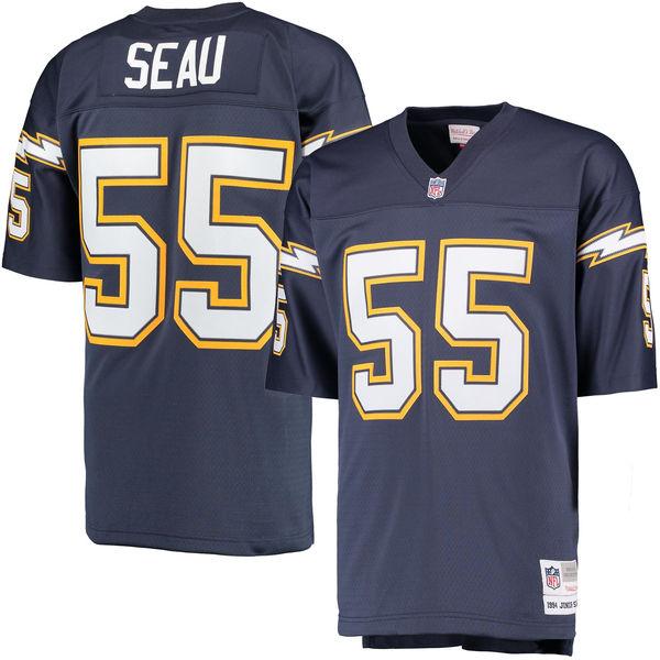 Junior Seau Jerseys NFL San Diego Player Football Jersey - Navy(China (Mainland))