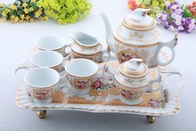 2015 coffee cup set Business gifts high-end European Coffee cup of tea sets with tray the new special