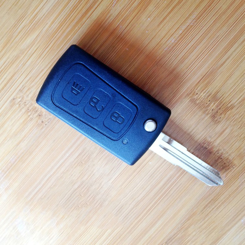 Car Key Shell For Great Wall H3 Flip Remote Key 3 Button Case Key Car Smart With Battery Clamp Car Flip Key Shell(China (Mainland))