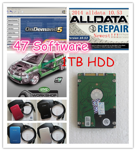 big promotion 47in1 1TB HDD 2015 fit win7 win8 Alldata 10.53+Mitchell+med&heavy truck+elsa+Vivid work shop auto repair software(China (Mainland))