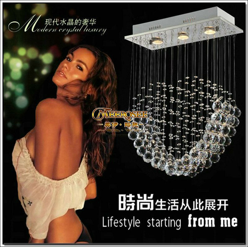Modern Crystal Ceiling Light Fixture loving Heart Shape Crystal light lustre ceiling Lamp for dining area, bedroom MD6016<br><br>Aliexpress