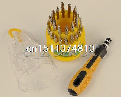 31 in 1 Screwdriver Set PC Hard Drive Printer Shaver Repair Tools Kit(China (Mainland))