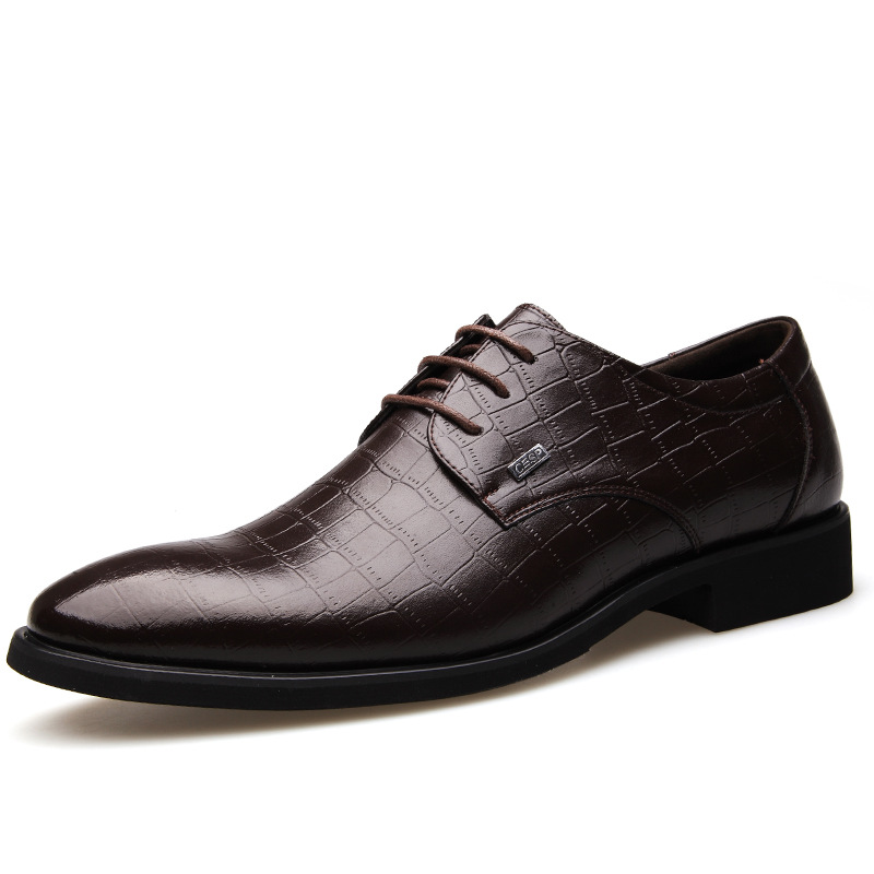 2015 Mens Luxurious Alligator Pattern Genuine Leather Dress Shoes Lace-up Pointed-Toe Business Shoes Oxford Shoes for men<br><br>Aliexpress