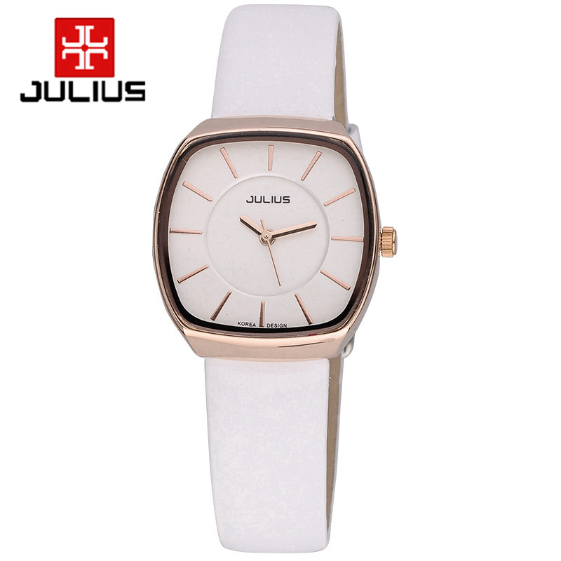 Гаджет  Top selling female leather wristwatch women favorite watches fashion casual Japan quartz watch luxury brand Julius 669 clock tag None Часы