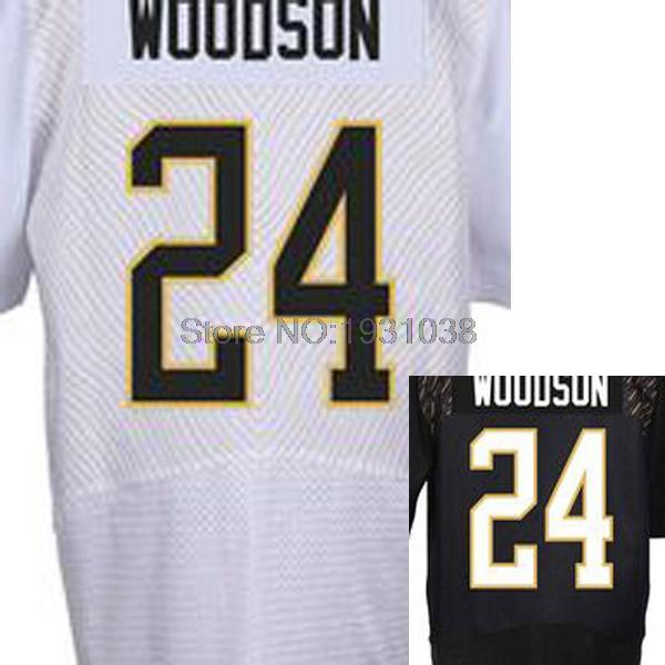 High Quality Cheap #24 Charles Woodson White/Black 2016 Pro Bowl Men's Stitched Elite Football Rugby Jerseys(China (Mainland))