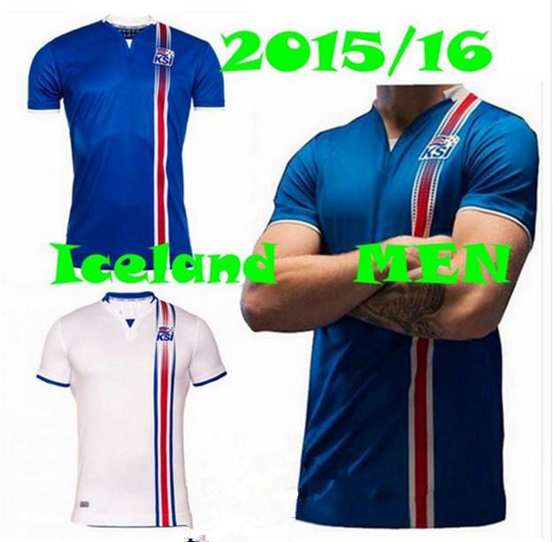 Top Thai Quality 2016 2017 Jersey Iceland shirt Jersey home national team soccer jerseys survetement foot maillot Football shirt(China (Mainland))