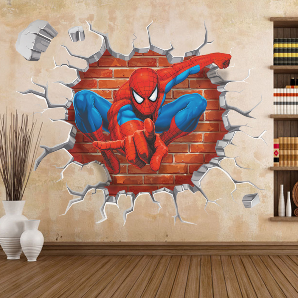 3d spiderman wall stickers for kids rooms removable wall finding nemo wall sticker decor decals removable vinyl