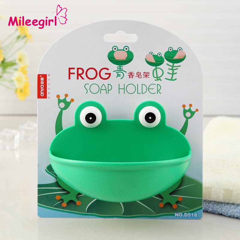 Frog Sucker Soap Dishes,Cartoon Removable Wall Suction Hook Soap Holder/ Soap Box Bathroom Hardware Sets(China (Mainland))
