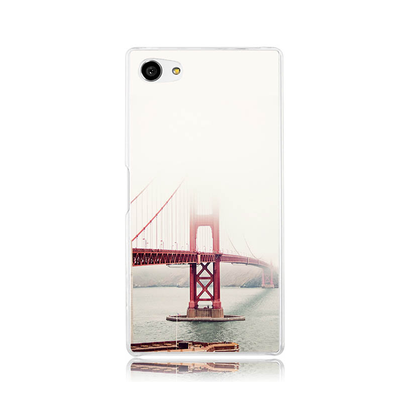 San Francisco Golden Gate Fog Mist Wallpaper Plastic Protective Shell Skin Bag Case For Z5c z5 z2 z3 z4 Cases Hard Back Cover(China (Mainland))