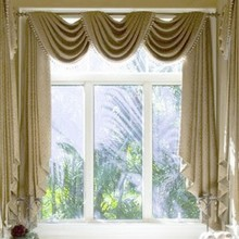 Ready curtain with pelmet and beads ,velvet fabric , free trim for different size ,1701 m59,customize curtains(China (Mainland))
