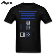 Buy Star Wars R2D2 Uniform T Shirt Men Youth T-shirt Short Sleeve Cotton TeenBoys R2 D2 Tshirt Plus Size Tee Shirt Tops Clothing for $12.54 in AliExpress store