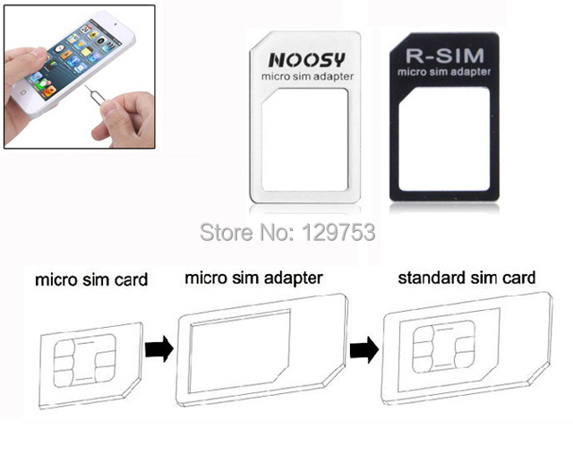 High Quality Micro SIM Card to Standard SIM Card Adapters Tools For Galaxy S2 NOKIA All Standard SIM Card Phone, Free Shipping(China (Mainland))