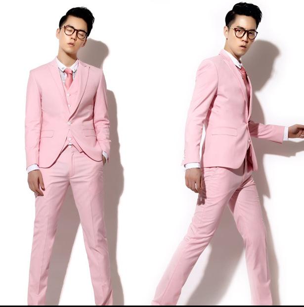 Mens Pink Suit Jacket