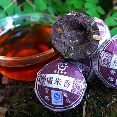 Chinese Mini Yunnan Puer Tea Glutinous rice sweet Tea Flavor Pu er Puerh Tea Green Slimming